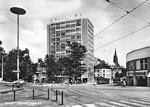 Ansichtskarte Basel. Hochhaus Steinentor (Rückseite der Karte beschädigt: Verlag & Photo ?)