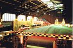 Die Herbstmesse in der grossen Halle 6, in der einstmals auch Radrennen ausgetragen wurden, 1983