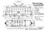 Tram-Motorwagen Be 2/2 Serie 137-172 (Zeichnung BVB)