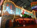 Die renovierte Wiener-Prater-Geisterbahn während der Herbstmesse in der ehemaligen grossen Halle 6 in Basel, 2014