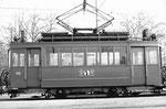 Seitenansicht des Trammotorwagens Be 2/2 Nr.175 vor dem Depot Dreispitz, 1970