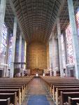 Innenansicht der Antoniuskirche, der ersten Betonkirche der Welt