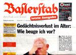 15) Baslerstab, die  letzte Ausgabe vom 28.Januar 2014