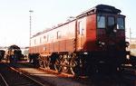 Die SBB-Lokomotive Ae 4/6 Nr.2320 mit Stangenantrieb beim Güterbahnhof Wolf