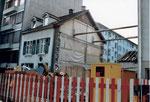 Der Abbruch des Hauses Bläsiring 129 im Jahre 1991