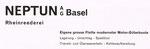 Inserat der «NEPTUN AG Basel Rheinreederei» in der Zeitschrift «Strom und See» 1964