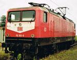Die E-Lokomotive BR 112 183-9 im Bad.Bahnhof in Basel, 1999