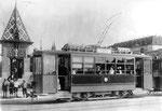 Trammotorwagen Be 2/2 Nr153 vor dem Käpperlijoch auf der Mittleren Brücke