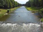 Nochmals der Fluss «Wiese» in den Langen Erlen mit Blickrichtung Norden, aber über 30 Jahre später (2016)