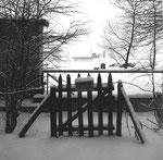 Lange Erlen mit Blick gegen das Bässler Gut im strengen Winter 1962/1963