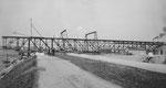 Rheinische Kohlenumschlags AG, Bau der grossen Krananlage im Klybeck-Hafen im Jahre 1925
