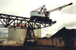 Klybeck Hafen, der Kran der Rheinischen Kohlenumschlags AG 1980