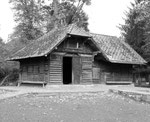 Der Stall der Rehe im Tierpark Lange Erlen, 1960