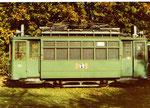 Der Trammotorwagen Be 2/2 Nr.171 in der grosszügigen Abstellanlage Eglisee, 1970