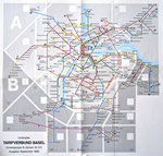 Linienplan Tarifverbund BASEL, Ausgabe September 1980