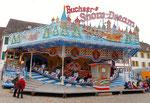 """Die Herbstmesse mit der schönen Bahn """"SnowDream"""" auf dem Münsterplatz, 2015 (siehe auch die Fotos Nr.3 von 1986 und Nr.6 von 1978)"""