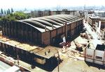 Der Abbruch der beliebten Kongresshalle 8 (Basler Halle) ca.1980