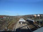Der Bahnhof Weil am Rhein mit Blick Richtung Norden, Januar 2015