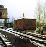 Die Überreste der grossen SRN-Abfüllanlage an der Westquaistrasse, 1983