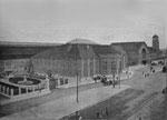 Der neu erbaute Bad.Bahnhof im Jahre 1913