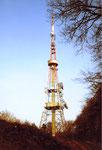 Der alte Fernsehturm auf St.Chrischona, 1979