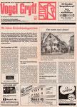 Der «Vogel Gryff» -  Die Zeitung der igk (Interessen Gemeinschaft Kleinbasel) mit einem Bericht über 90 Jahre Kleinhüningertram vom 15.Mai 1987
