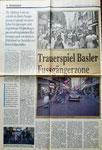 Ein Bericht in der Basler Zeitung über das ewige Trauerspiel einer Füssgängerzone in der Freien Strasse, 7. Oktober 1983.