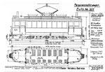 Tram-Motorwagen Be 2/3 Nr.301 (Zeichnung BVB)