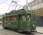 Hundert Jahre Tram nach St.Jakob. Der Motorwagen Be 2/2 Nr.215 auf der Linie 22 an der Endhaltestelle St.Jakob, 2016
