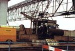 Renovation des Krans der Rheinischen Güterumschlages AG (ehem.Rheinische Kohlenumschlags AG) 1979