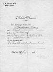 Ein Arbeits-Ausweis der «J.R.Geigy Basel» vom Juli 1929