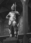 """Standbild """"Munatius Plancus"""" (römischer Feldherr) von Hans Michael, Strassburg 1580 im Innenhof des Rathauses, Foto von 1969"""