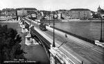 Ansichtskarte 534 Basel Johanniterbrücke und St.Johanntor (Rückseite der Karte durch aufkleben beschädigt: Verlag & Photo ?)