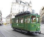 Hundert Jahre Tram nach St.Jakob. Motorwagen Be 2/2 Nr.47 auf der Linie 22 an der Haltestelle Marktplatz. 2016