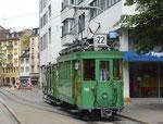 Hundert Jahre Tram nach St.Jakob. Die Linie 22 (Schifflände - St.Jakob) mit Motorwagen Be 2/2 Nr.190 an der Endhaltestelle Schifflände, 2016