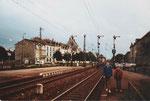Flügelsignalanlagen am Bahnhof Lörrach im November 1982