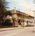 Eine schöne Häuserreihe am Steinengraben, die später einem Geschäftshaus geopfert wurden, 1975