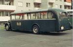 Der Bus Nr.2 auf dem Abstellplatz hinter dem Depot Wiesenplatz, 1970
