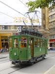 Hundert Jahre Tram nach St.Jakob. Motorwagen Be 2/2 Nr.47 auf der Linie 22 an der ehemaligen Haltestelle Hauptpost. 2016