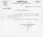 Eine Kündigung der Firma «NEPTUN» vom Oktober 1927
