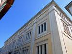 Detailaufnahme des 1913-1917 durch das Architekturbüro Vischer & Söhne erbaute «Natur- und Völkerkunde-Museumsgebäude« an der Augustinergasse, Mai 2017