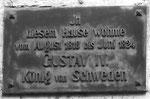 Gedenktafel am Haus St.Johanns-Vorstadt 72, hier wohnte der schwedische König Gustav iV vom Juni 1818 bis August 1824, Oktober 1995