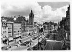 Ansichtskarte Basel Marktplatz Bildkarte B 7015 Verlag Beringer & Pampaluchi Zürich
