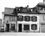 Die Dorfstrasse 32 in Kleinhüningen, das Haus von Coiffeur Willi Roesen, 1960, Foto: Willi Roesen?