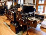 Der «OHZ« - (Original Heidelberger Zylinder) die legendäre Druckmaschine der Heidelberger Druckmaschinen AG im Papiermühle-Museum Basel