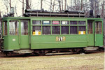 Trammotorwagen Be 2/2 Nr.161 in der Abstellanlage Eglisee, 1972
