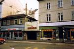 Das legendäre Cinema Union (bekannt als Revolverküche) an der Klybeckstrasse 1988