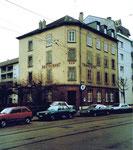 Das Restaurant Tramdepot in der Allschwilerstrasse, 1975 (beim Tramdepot Morgartenring)
