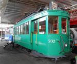 Nochmals der Trammotorwagen Be 2/2 Nr.202 im Verkehrshaus in Luzern im Jahre 2015