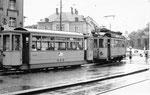 BEB-Tramzug Be 2/4 Nr.9 am Aeschenplatz, 1969